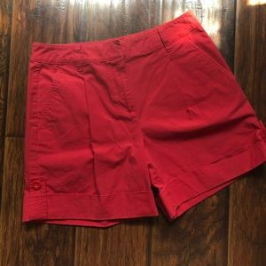 Talbots Nantucket Red Cuffed Shorts
